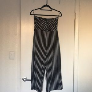 Other - Strapless stripped jumpsuit.